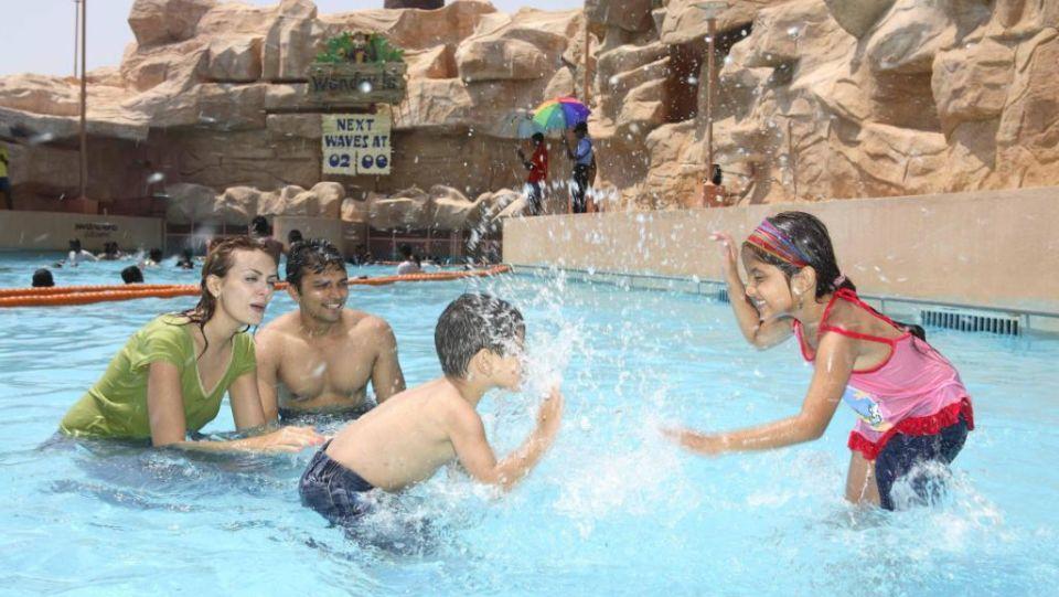 Water Rides - Wave Pool at  Wonderla Amusement Park Bangalore