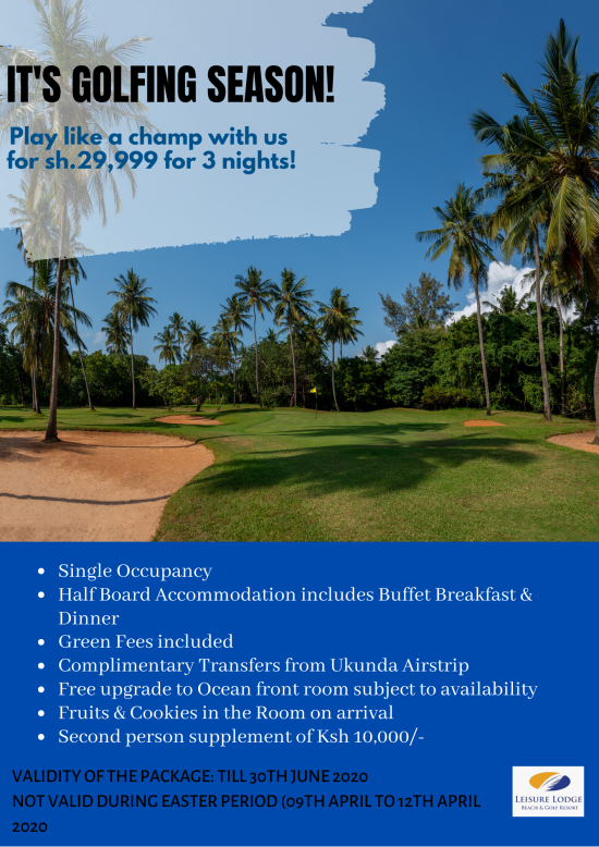 Golf Package Flyer