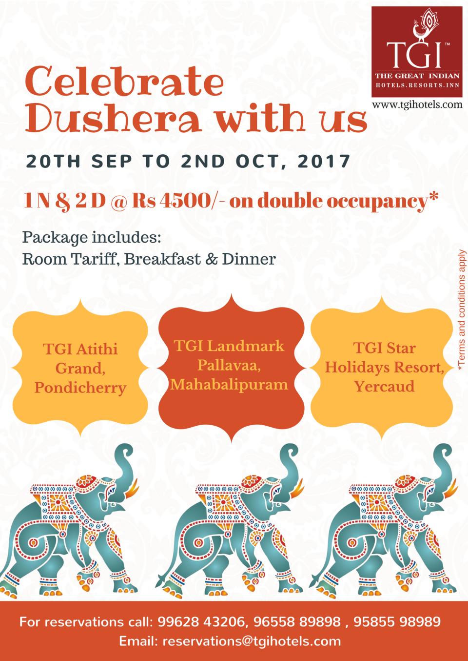 TGI Hotels and Resorts   Dushera 1