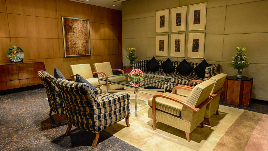 The Grand New Delhi New Delhi Meeting Room at The Grand New Delhi Hotel on Nelson Mandela Road