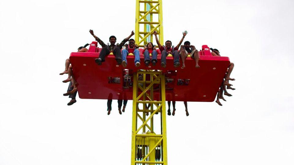 Thrillers Rides - Drop Zone at  Wonderla Amusement Park Bengaluru