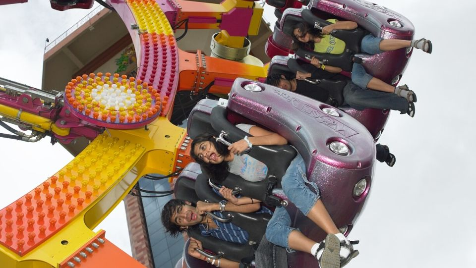 Thrillers Rides - Y Scream at  Wonderla Amusement Park Bangalore