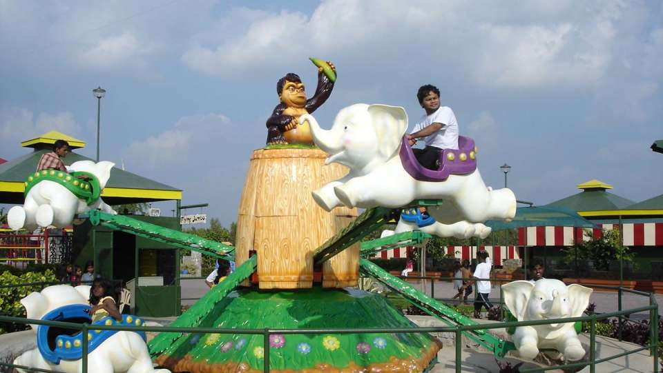 Kids Rides - Flying Jumbo at  Wonderla Amusement Park Bangalore