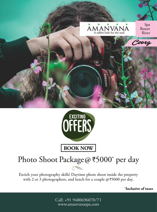 Photo Shoot Package at Amanvana Spa - Luxury Resort in Coorg