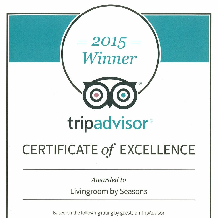 2015 Tripadvisor Certificate of Excellence