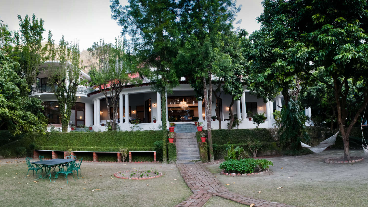 The Glasshouse on The Ganges Hotels above Rishikesh