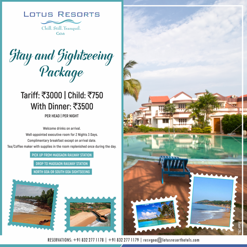 Sightseeing Package|Lotus Beach Resort Benaulim|Sightseeing Package