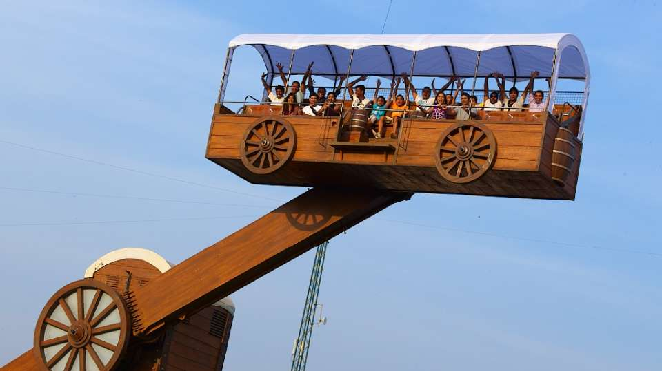 Dry Rides - Lazy Wagon at  Wonderla Amusement Park Bangalore