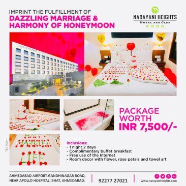 anniversary and honeymoon package at narayani heights, hotels near ahmedabad airport 1