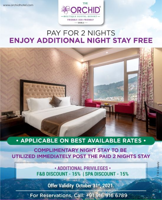 The Orchid Shimla Stay Offer