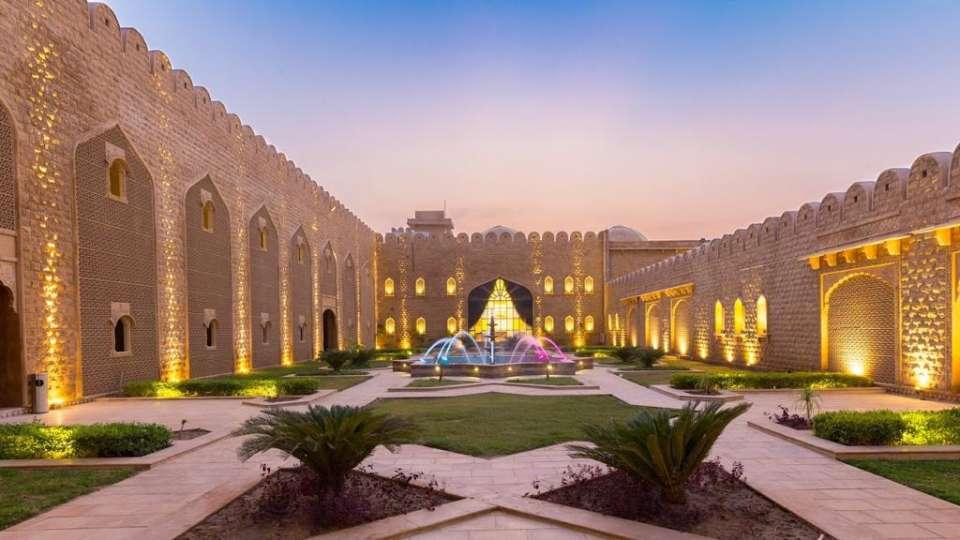 Courtyard Sairafort Sarovar Portico Jaisalmer 1