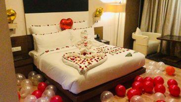 decorated room at Narayani Heights, hotel room in Gandhinagar 1