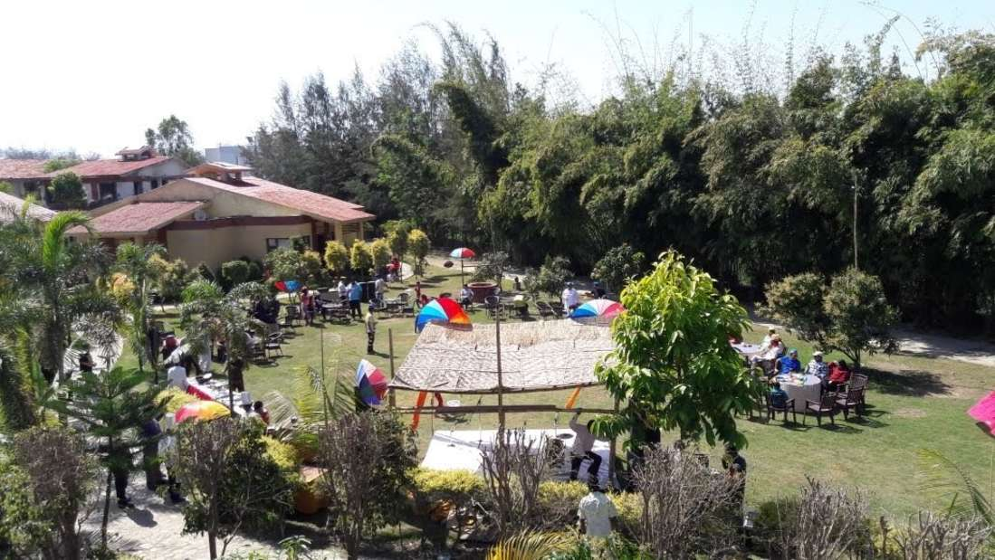 Holi celebration at Iris Resort