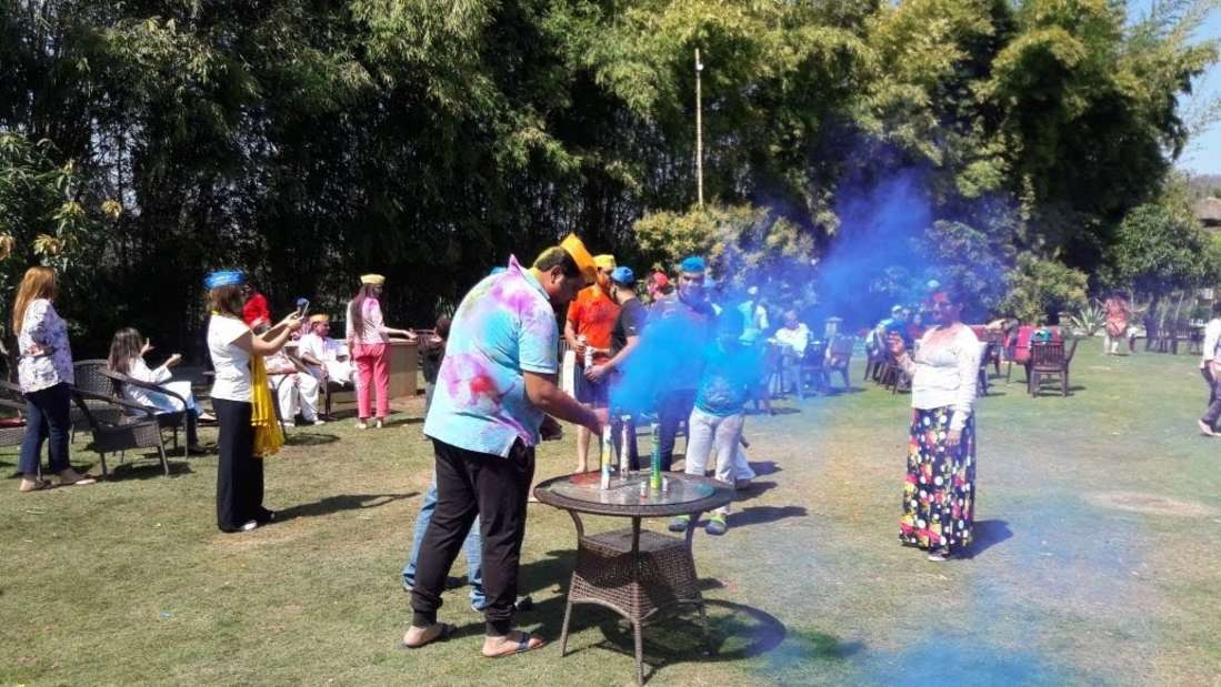 Holi celebrations in Jim Corbett resort