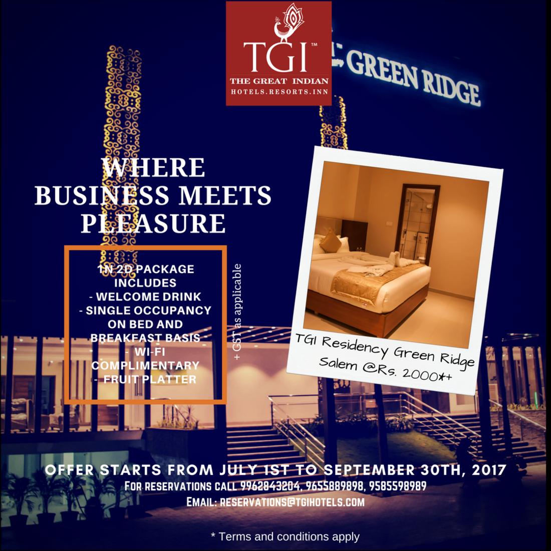 TGI Hotels and Resorts   greenridge