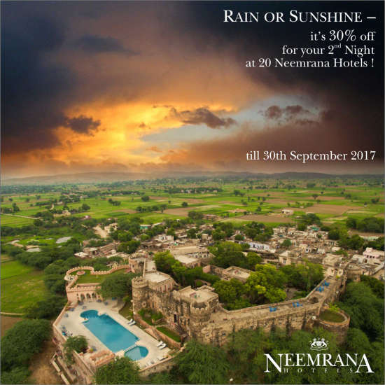 Neemrana Hotels  Monsoon Package at Neemrana Hotels Heritage Hotels in India