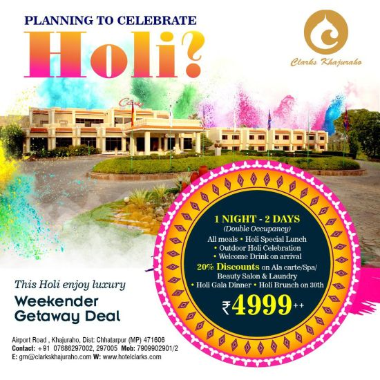 Holi Package - Clarks Khajuraho
