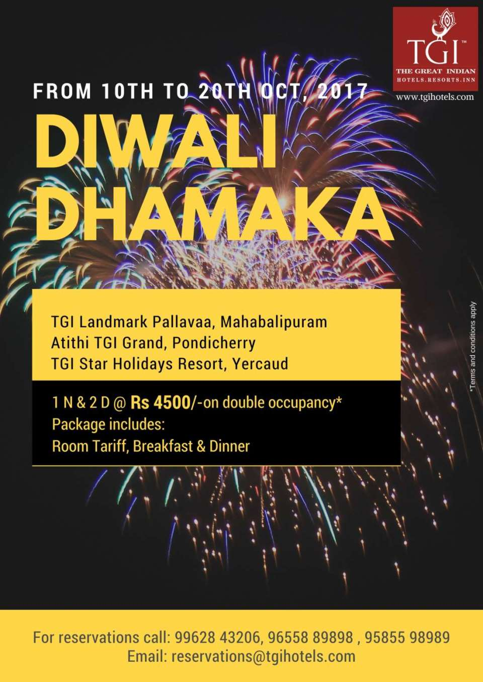Hotel Atithi, Pondicherry Pondicherry Diwali Dhamak Atithi Agra