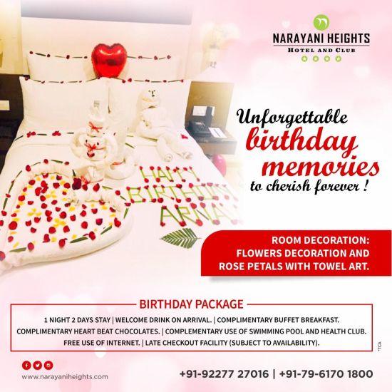 birthday celebration at Narayani Heights hotel ahmedabad, 4 star hotel in ahmedabad