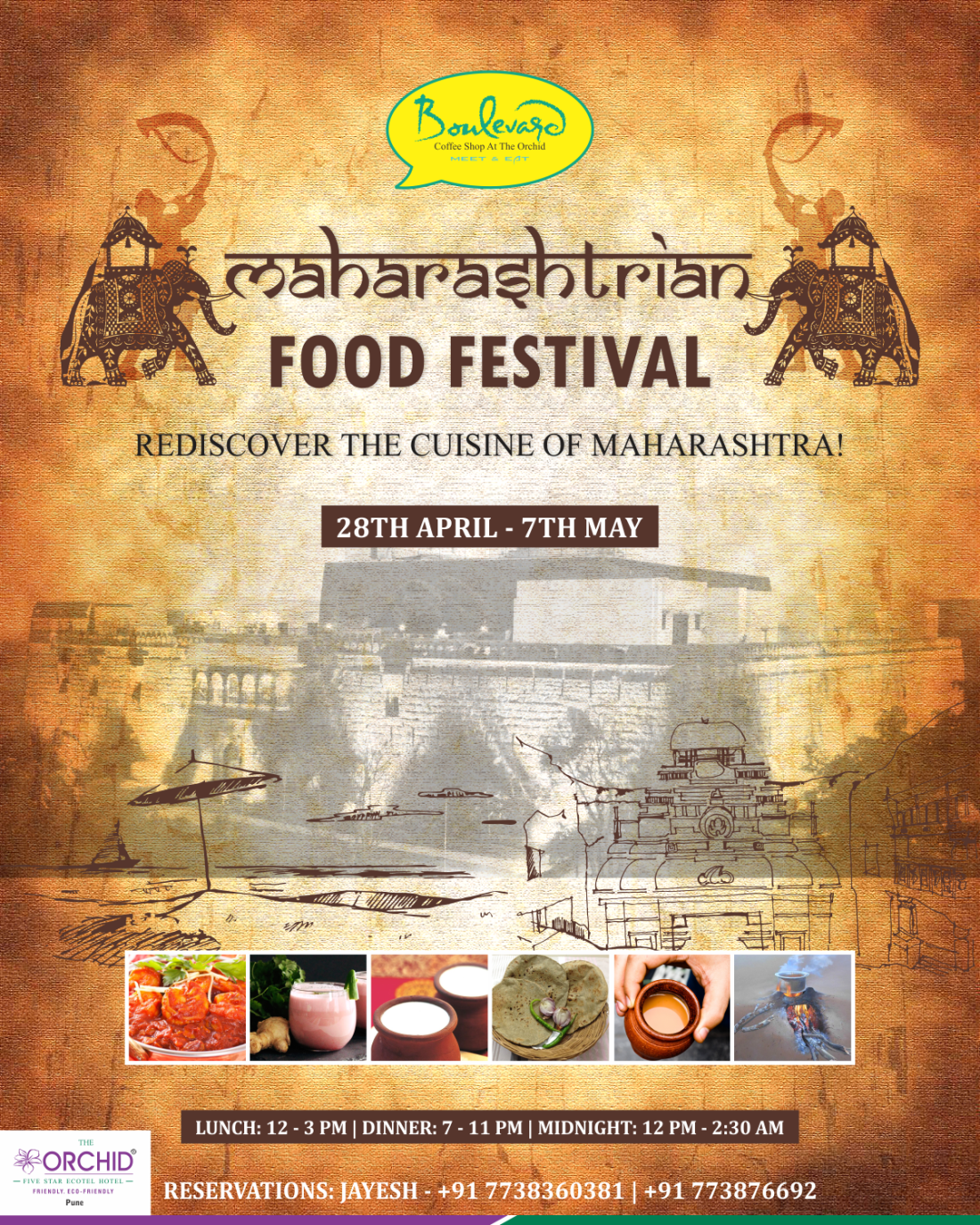 The Orchid Pune Pune Maharashtrian Food Festival Tent Card Front