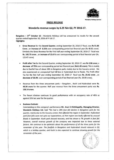 Wonderla Amusement Parks & Resort  PressRelease 1 -page-001
