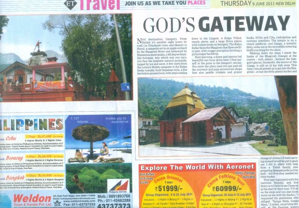 The Haveli Hari Ganga Hotel, Haridwar Haridwar Media Coverage 2 of The Haveli Hari Ganga Hotel Haridwar