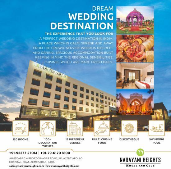 destination wedding package at Narayani Heights hotel, wedding venue in ahmedabad