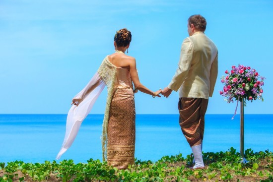 thai wedding at natai beach resort in phang-nga