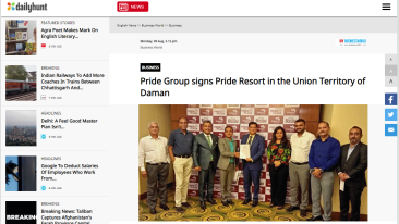 Pride-Group-signs-Pride-Resort-in-the-Union-Territory-of-Daman-Business-World-DailyHunt