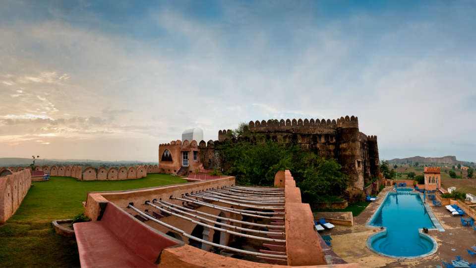 Hill Fort-Kesroli - 14th C, Alwar Kesroli Hill Fort-Kesroli Resort in Alwar Resort in Rajasthan Pool View