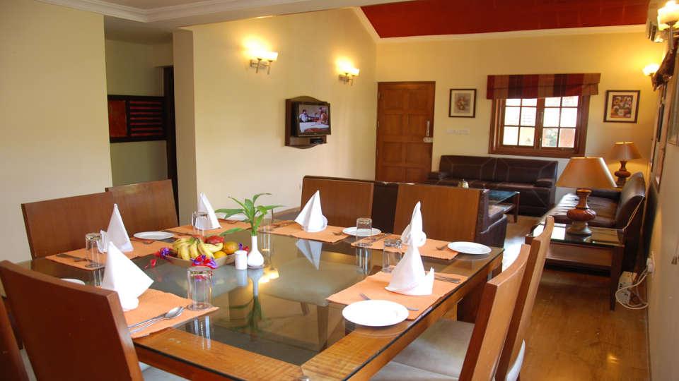 The Bungalows Light House, Goa Goa Dining area