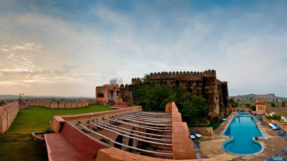 Hill Fort-Kesroli - 14th C, Alwar Kesroli Hill Fort-Kesroli Resort in Alwar Resort in Rajasthan Pool View