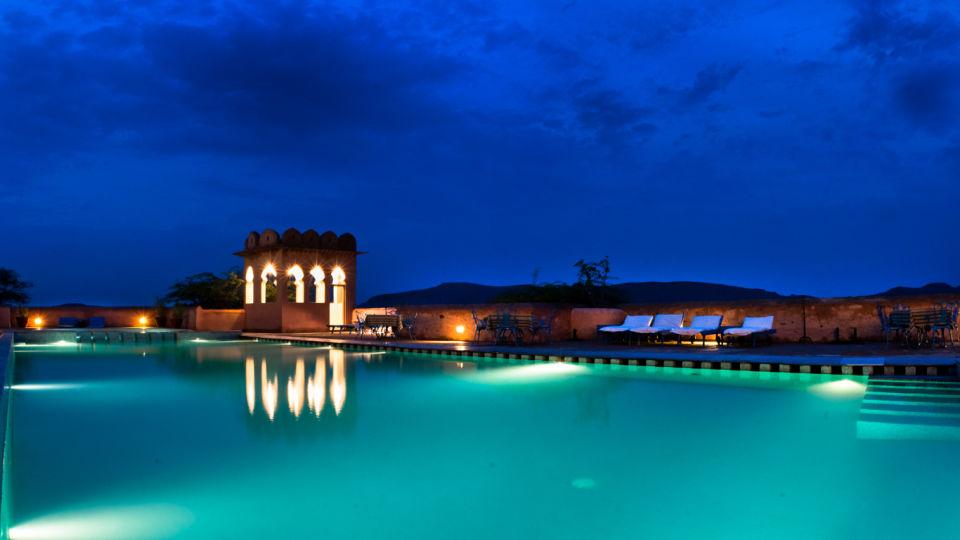 Hill Fort-Kesroli - 14th C, Alwar Kesroli Hill Fort-Kesroli Resort in Alwar Resort in Rajasthan Pool with small bar