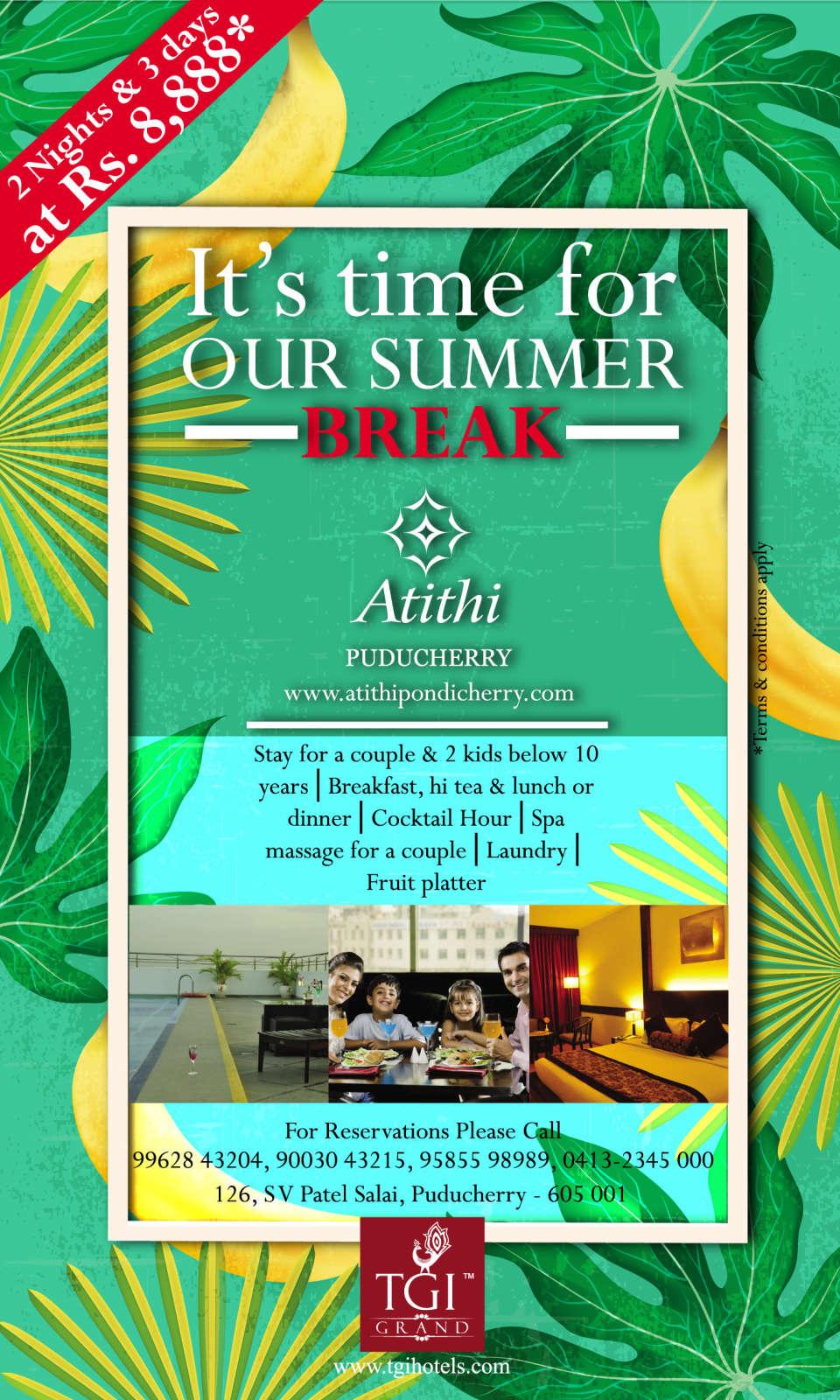 Hotel Atithi, Pondicherry Pondicherry Summer Bliss 3 Hotel Atithi Pondicherry