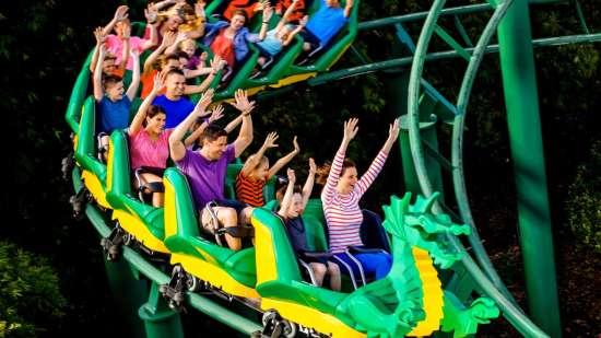 Black Thunder Water Theme Park - Dragon Coaster - Demo 4