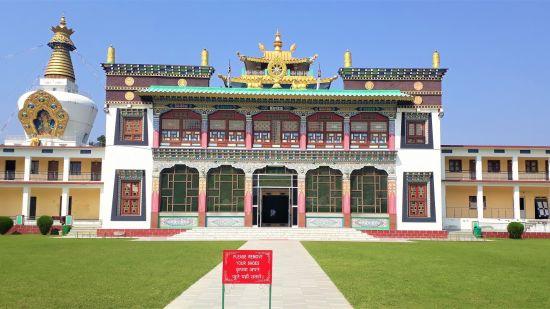 Front view of Buddha Temple Dehradun Uttarakhand