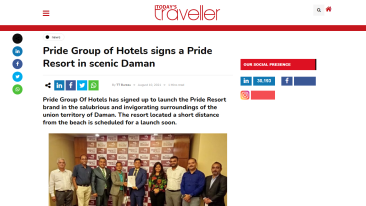 Pride-Group-of-Hotels-signs-a-Pride-Resort-in-scenic-Daman-Today s-Traveller-Travel-Tourism-News-Hotel-Holidays