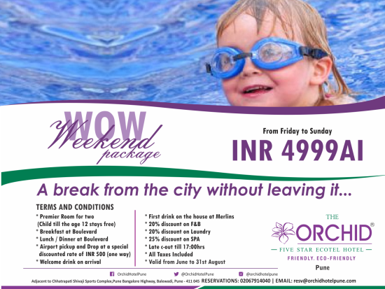 The Orchid Pune Pune Weekend package at The Orchid Pune