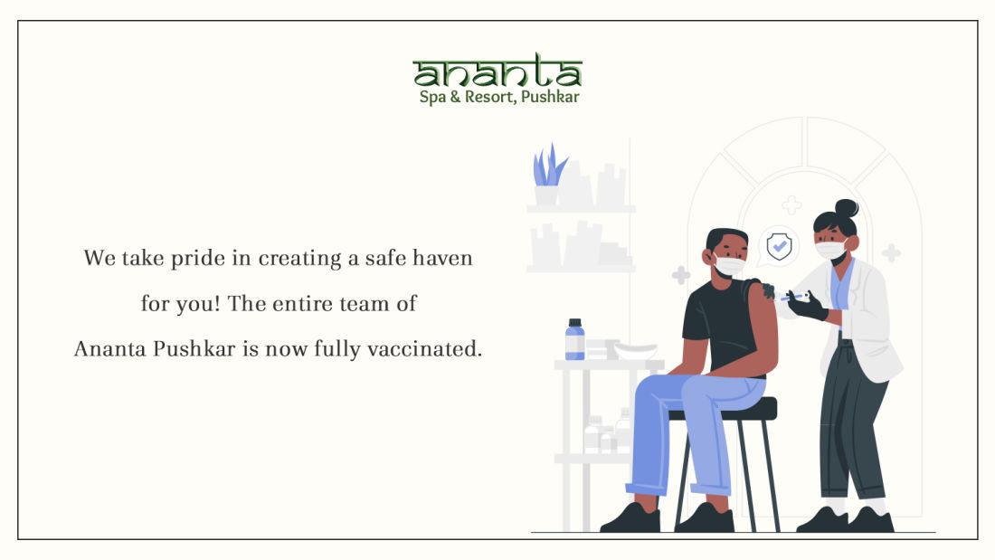 vaccinated  Ananta Pushkar banner