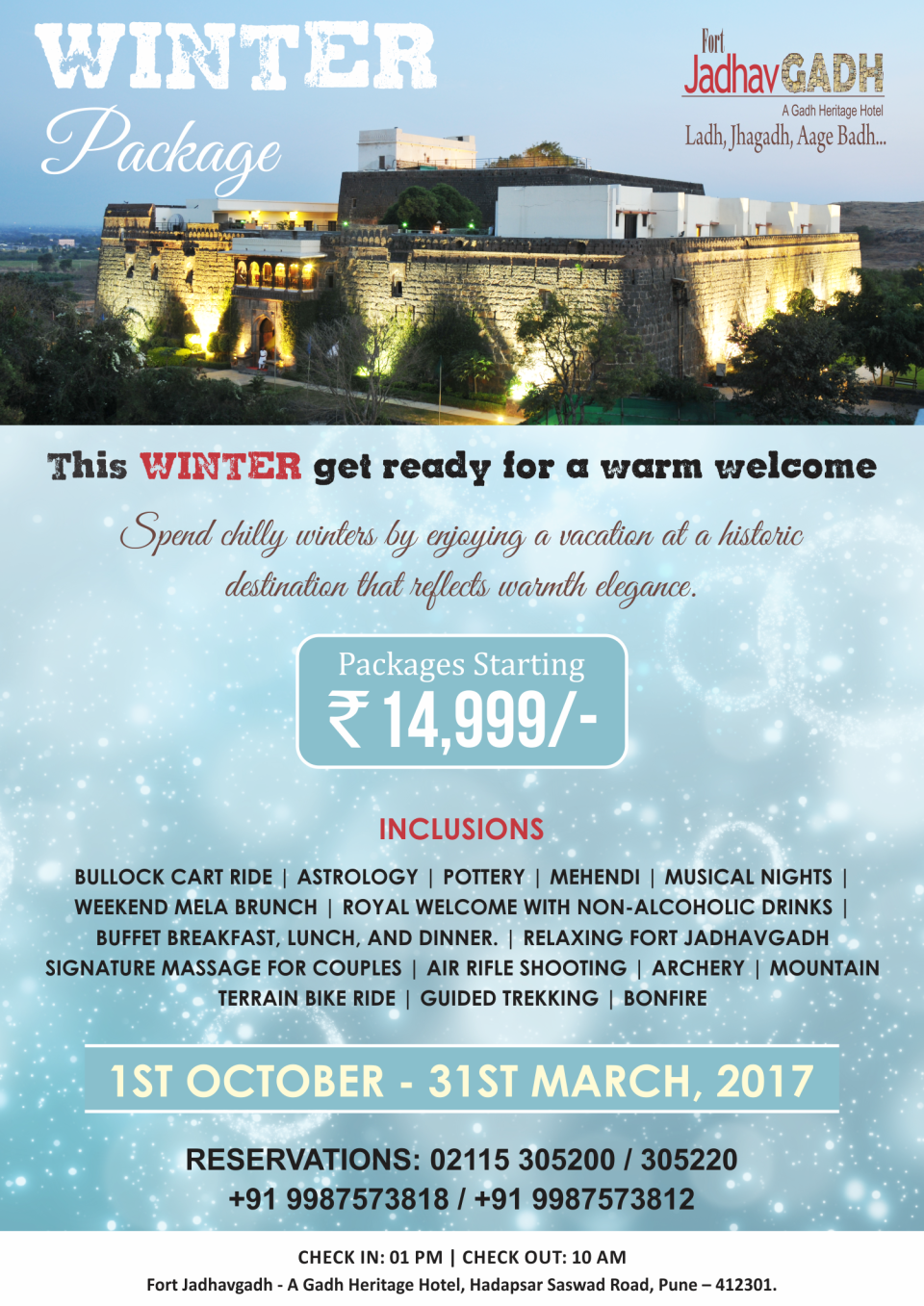 Fort JadhavGADH Pune Jadhvgadh Winter Package A