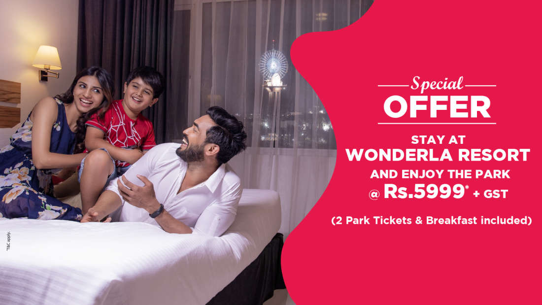 Wonderla Resort Room web banner