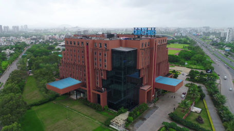 Aerial View Of Facade  The Orchid Hotel Pune  Environment Friendly Hotels In Pune