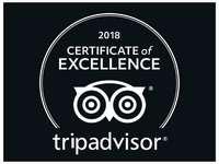 Tripadvisor 2018 Certificate of Execellance badge