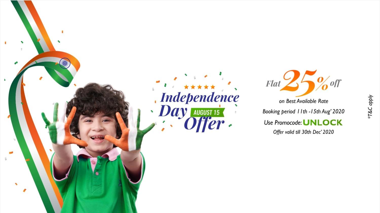 Sarovar independence-day-offer 2020 Website Banner