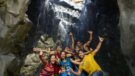 Water Rides - Water Falls at Wonderla Kochi Amusement Park