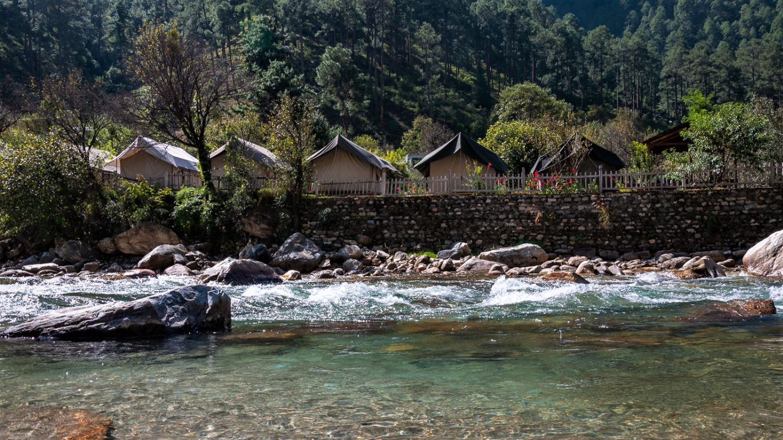 LETS Camp Tirthan river1