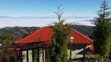 Ojaswi Himalayan Resort, Mukteshwar Nainital Roof View Ojaswi Himalayan Resort Mukteshwar 1