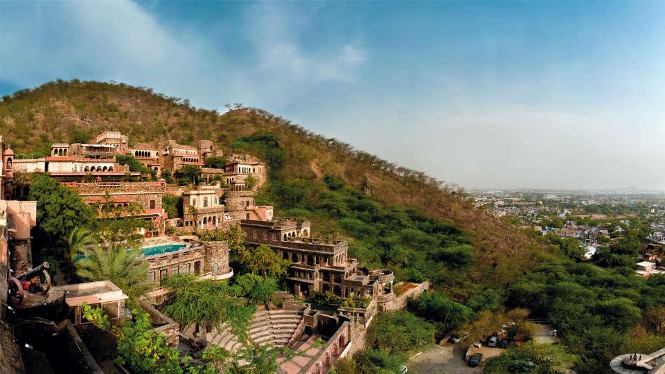 Neemrana Fort-Palace - 15th C, Delhi-Jaipur Highway Neemrana Facade Premises Neemrana Fort Palace 10