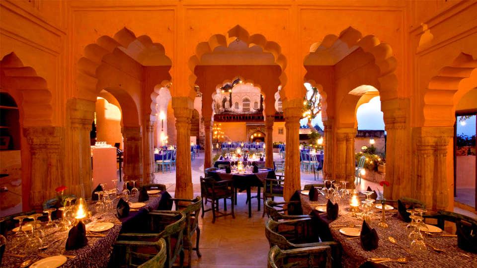 Neemrana Fort-Palace - 15th C, Delhi-Jaipur Highway Neemrana Facade Premises Neemrana Fort Palace 8