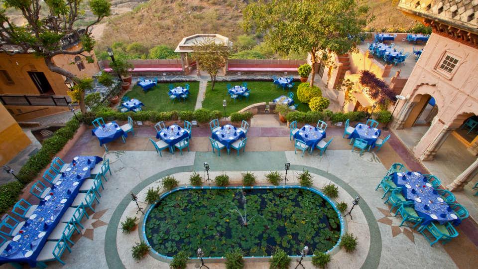 Neemrana Fort-Palace - 15th C, Delhi-Jaipur Highway Neemrana Facade Premises Neemrana Fort Palace 9